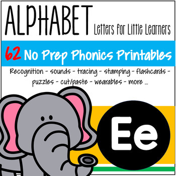 Alphabet E Letter of the Week Phonics Recognition, Sound, Tracing & Craftivities