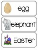 Letter E, N, And O Picture Word Cards