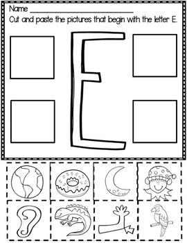 Letter E  Packet