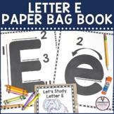 Letter E Paper Bag Book