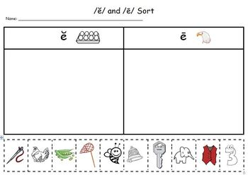 Letter E Phonics and Writing Packet