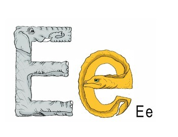 Letter E Poster and Story