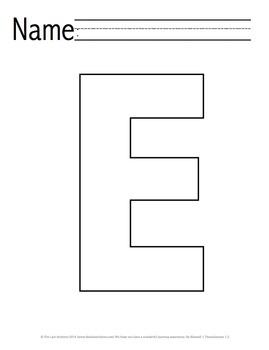 Letter 'E' Pre-K Packet