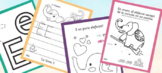 Letter E Printables in Spanish for Preschoolers and Kinder