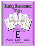 Letter E Reading Discrimination Strips for Fluency and Alp