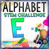 Letter E STEM Challenge | Letter E Activity