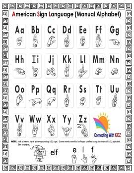 Letter 'E' Sign Language Concept Cards