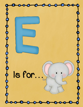 Letter E Story and Writing Practice
