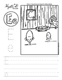 Letter E Trace and Write Worksheet Pack