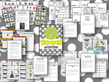 Vowel Activities for Short E and Long E