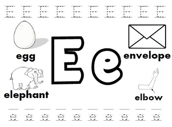 letter e worksheets by kindergarten swag teachers pay teachers. Black Bedroom Furniture Sets. Home Design Ideas