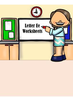 Letter E Worksheets