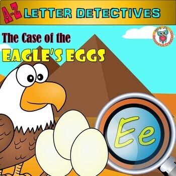 Letter E Worksheets Mystery - Letter E Activities - A-Z Letter Detectives