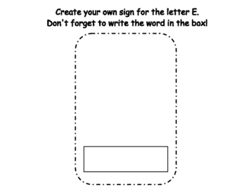 Letter E Write the Room- Includes 3 levels of answer sheets