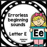 Letter E adapted book errorless learning