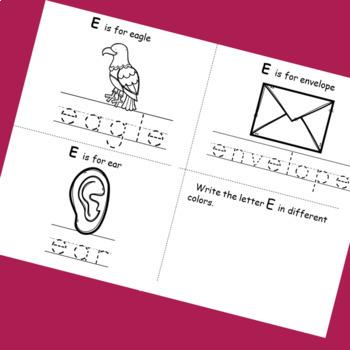 Letter E booklet
