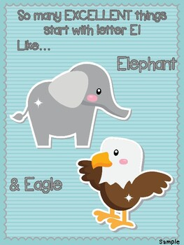 Letter E Craft And Color Sheet