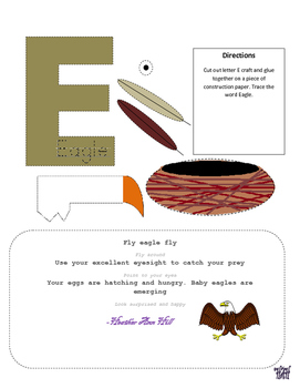 Letter E cutout craft