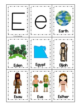 Letter E is for Earth. Bible Letter of the Week.