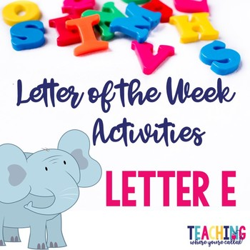Letter Ee Activity Pack
