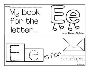 Letter Ee Booklet- Predictable Sentences