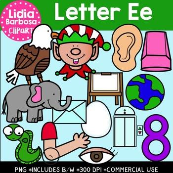 Letter Ee Digital Clipart