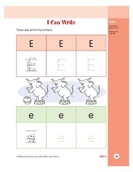 Letter Ee (Elephant)