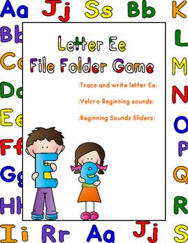 Letter Ee File Folder Game