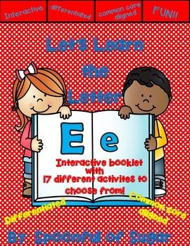Letter Ee- Interactive Activities Booklet