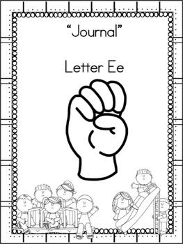 Letter Ee Journal