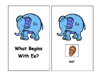 Letter Ee Vocabulary Book