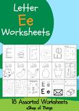 Letter Ee Worksheets Coloring Tracing Phonics Alphabet Dab letter Find letter