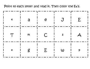 Letter Ee pack