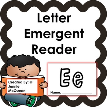 Letter Emergent Reader: Ee-PRINT AND GO!