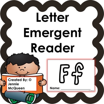Letter Emergent Reader: Ff- PRINT AND GO!