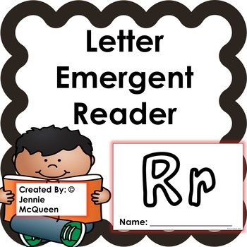 Letter Emergent Reader: Rr - PRINT AND GO!