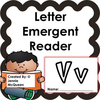 Letter Emergent Reader: Vv - PRINT AND GO!
