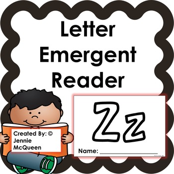 Letter Emergent Reader: Zz - PRINT AND GO!