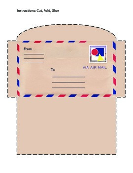 Letter, Envelope and Mailbox