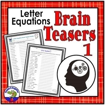 Brain Teaser Sheets - Critical Thinking