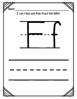"Letter of the Week (Letter ""F"")"