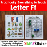 Letter F  | Alphabet Printables and Centers