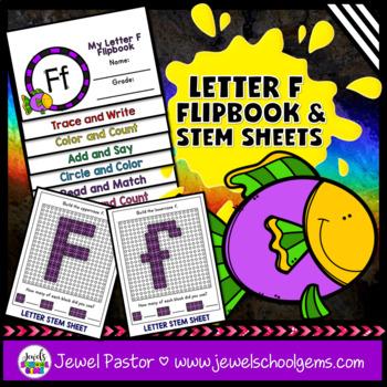 Letter F Alphabet Flip Book (Alphabet Interactive Notebook Activities)