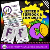 Letter F Alphabet Flip Book (Alphabet Interactive Notebook