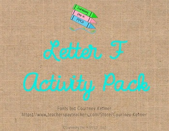 Letter F Activity Pack