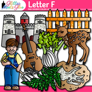 Letter F Alphabet Clip Art {Teach Phonics, Recognition, and Identification}
