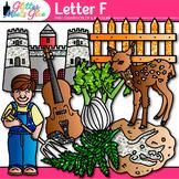 Letter F Alphabet Clip Art {Teach Phonics, Recognition, an