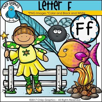 Letter F Alphabet Clip Art Set - Chirp Graphics