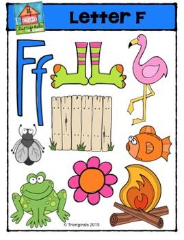 Letter F Alphabet Pictures {P4 Clips Trioriginals Digital Clip art}