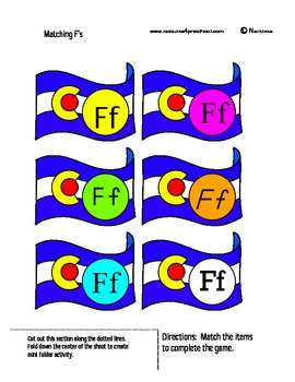 Letter F - BASIC Alphabet Curriculum for Preschool and Kin